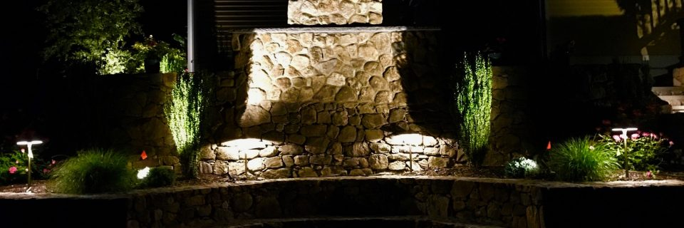 landscape lighting outdoor wall and quincho